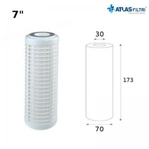 Cartuccia Filtro Atlas A Rete Di Poliestere 7 Pollici 50 Micron Rl 7 Sx Per Contenitore Junior Lavabile