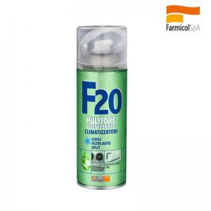 F 20 Faren Igenizzante Climatizzatori Casa Auto Aria Condizionata Detergente Spray 400 Ml