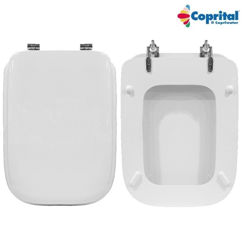 Sedile wc ideal standard conca legno pesante colato bianco for Copriwater ideal standard conca