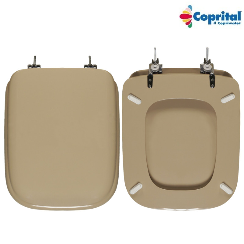 Sedile wc ideal standard conca legno pesante colato visone for Ideal standard conca visone