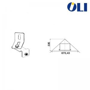 Kit Oli Struttura Per Installazione Cassetta Quadra Sanitarblock Ad Angolo Cod. 722019