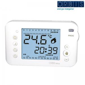 Cronotermostato Orbis Modello Mirus Lux Colore Bianco Elettronico Digitale Con Programmazione Giornaliera/settimanale. Fissaggio