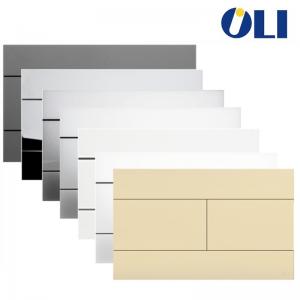 Placca Oli Slim Abinabile Alle Cassette Oli74 Plus, Quadra, Expert Evo Meccanica. Colori Bianco, Cromo Lucido, Cromo Satinato, N