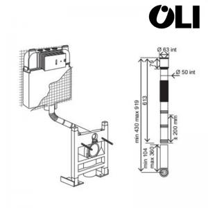 Kit Spostamento Per Cassetta Incasso Oli Cod. 622401