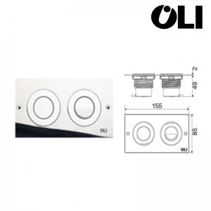 Placca Oli Mini Trend Pneumatica Per Cassetta Incasso Cod. 605294