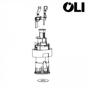 Valvola Oli Di Scarico Meccanica Per Cassetta Incasso Quadra Cod. 036972