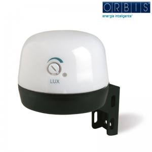 Interruttore Crepuscolare Orbis Vega Lux Per La Luminosità Dell' Ambiente Ob131712. Fissaggio A Parete O A Palo.