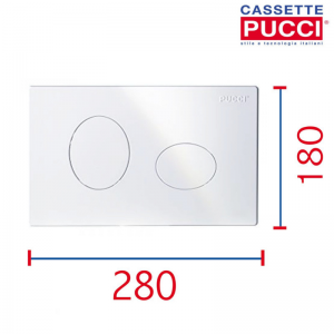 PLACCA PUCCI ECO ELLISSE BIANCA 4,7 80130550