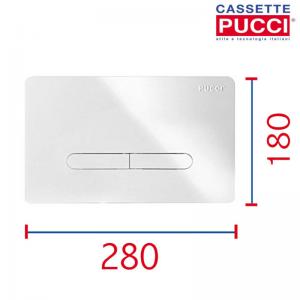 Placca Di Comando Cromata Per Cassetta Eco Tratto Spessore 4,7mm Originale Pucci 80130570