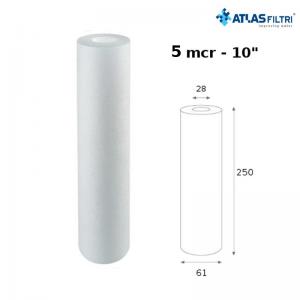 Cartuccia Filtro Atlas Propilene 10 Pollici 5 Micron Cpp Per Contenitore Master