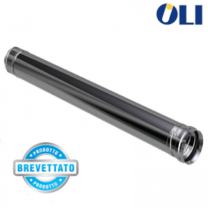 Elemento Lineare Oli Acciaio Inox 316 Ø 80 Per Canne Fumarie 0,25 M, 0,50 M E 1 M