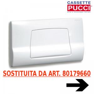Placca Di Comando Bianca Per Cassetta Sara Originale Pucci 80179660 (sostituisce Art. 80006710)