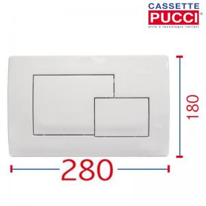 Placca Di Comando Eco Quadra Bianca 28 X 18 Per Cassetta Eco Originale Pucci 80000510