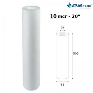 Cartuccia Filtro Atlas Propilene 20 Pollici 10 Micron Cpp 20 Sx Per Contenitore Master