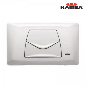 """Placca Di Comando Kariba """"classic"""" Bianca Doppio Scarico Art. 306400"""