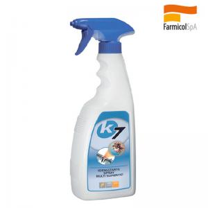 K 7 Faren Spray Igenizzante Multisuperfici Ad Ampio Spettro Con Base Alcolica Cod. 276750