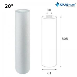 Cartuccia Filtro Atlas Propilene 20 Pollici 1 Micron Cpp 20 Sx Per Contenitore Master