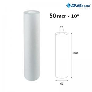 Cartuccia Filtro Atlas Propilene 10 Pollici 50 Micron Cpp Per Contenitore Master