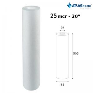 Cartuccia Filtro Atlas Propilene 20 Pollici 25 Micron Cpp 20 Sx Per Contenitore Master