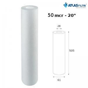 Cartuccia Filtro Atlas Propilene 20 Pollici 50 Micron Cpp 20 Sx Per Contenitore Master