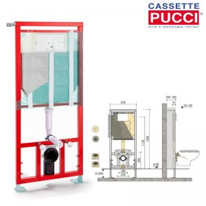 Cassetta Incasso Pucci Sara 9l Pneu Modulo Con Azionamento Pneumatico Cod. 1323010231